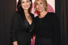 La Dott.ssa Jessica Veronica Faroni (Vicepresidente della Secondo Cuore Onlus) e Anna Tatangelo