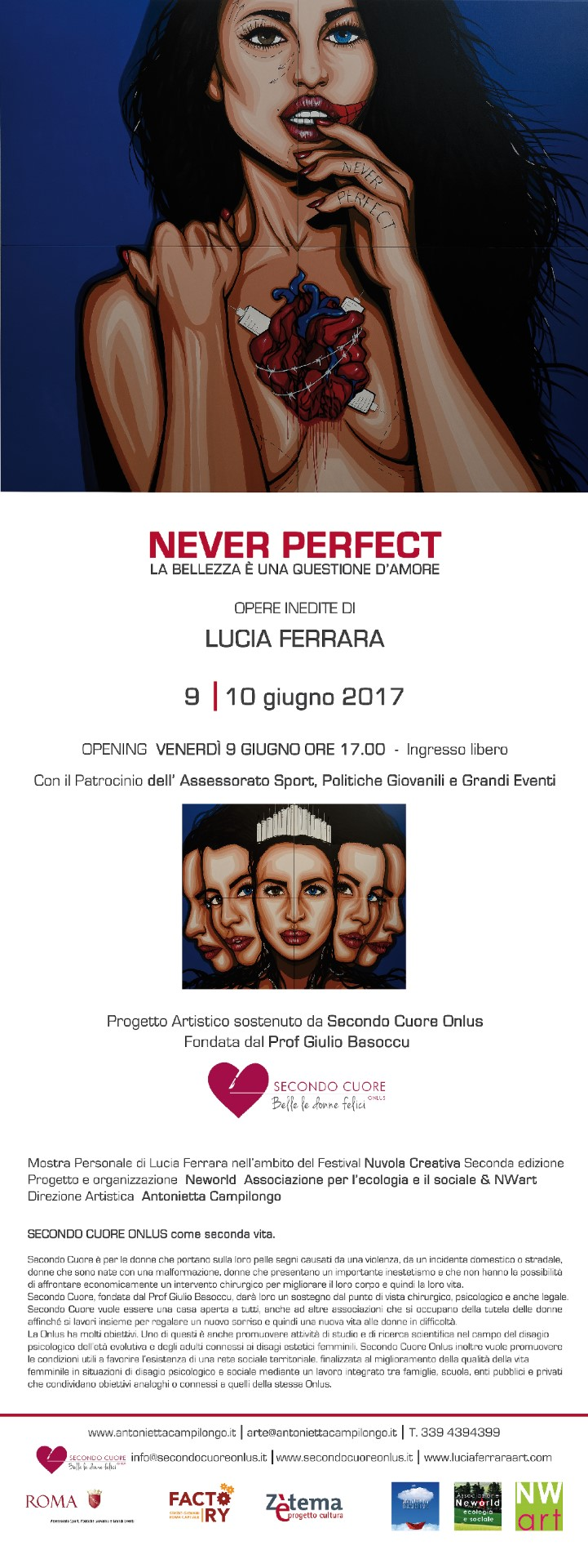 Locandina evento Never Perfect - la bellezza è una questione d'Amore